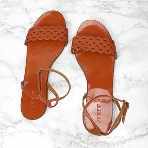 J. Crew Inez Orange Patent Strappy Sandal 9.5